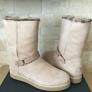 Ugg Classic Berge Short Water-resistant Amphora Sand Suede Boots Size 7 Women