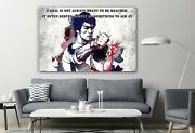 Famous Quote A Goal Is Not Always Bruce Lee Canvas Decor Print Room Painting