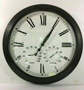 Pottery Barn Oversized Bronze Clock 27.50 Outdoor/indoor New Sold Out At Pb