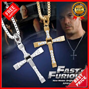 Necklace Pendant Cross Dominic Toretto Fast And Furious Vin Diesel Men Jewelry