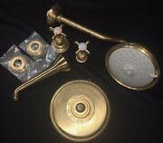 Herbeau France Lille Royale Thermostatic Valve Weathered Copper Brass Tub Shower