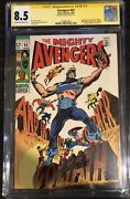 Avengers 63 Stan Lee Cgc Ss 8.5 Signed Hawkeye Becomes Goliath Key 22 Exists