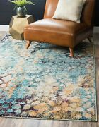 Unique Loom Vita Collection Traditional Over-dyed Vintage Blue Area Rug 8and039 0 X