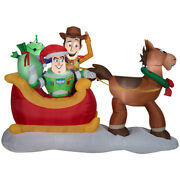 Disney Airblown Toy Story Sleigh Christmas Inflatable Multicolored