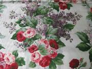 P Kaufmann French Country Cottage Fabric Lilacs Roses Floral Lavender Pink 5y