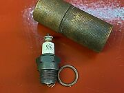 1916 1917 1918 Ac Titan Spark Plug In Wood Case Ford Overland Dodge Chevy Hupp