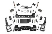 Rough Country 4in Ford Lift Kit|strut Spacers W/v2 Shocks 09-10 F-150 4wd