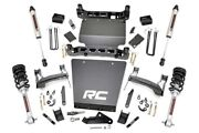 Rough Country 7in Gm Lift|bracket Kit W/struts And V2 Shocks 14-18 1500 Pu 4wd