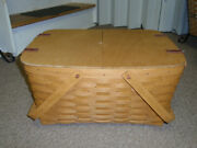 Longaberger Hostess Only Reunion Picnic Basket W/lid, Protector And Riser, New