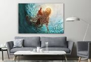 Hand Of Jesus Christ Religious Poster Canvas Decor Art Print Room Painting