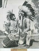 Comanche Indian Tribe Dancers In Japan Vintage Photo