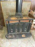 Franklin Wood Burning Stove Fireplace Cast Iron 70s