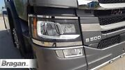 Head Light Chrome Trims For New Generation Scania R S Series 2017+ Lamp Covers