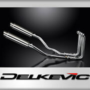 Yamaha Fjr1300 01-05 Decat Full 4-2 Exhaust 350mm Stainless Round Bsau Silencers