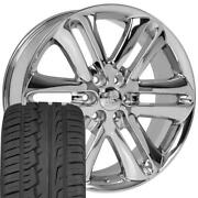 3918 Chrome 22 Wheel And Ironman Tire Set Fits Ford F150 Style