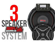 Ssv Works Gn-3a 3-speaker Plug-and-play System For Polaris General