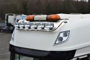 Roof Bar + Leds + Spot Lamp For Daf Xf 106 2013+ Superspace Cab Truck Stainless