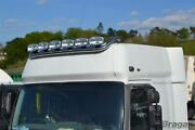 Roof Bar + Leds + Spot Lights For Man Tga Xlx Cab Truck Front Stainless Steel