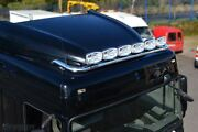 Roof Bar + Spot Lamp Lights For Daf Xf 106 2013+ Space Cab Truck Stainless Steel