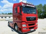 Truck Low Bar + Leds For Man Tgx Pre 2015 Front Stainless Spoiler Bumper Lobar
