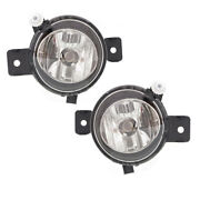 11-13 X5 W/o M Package Front Driving Fog Light Lamp Assembly W/bulb Set Pair