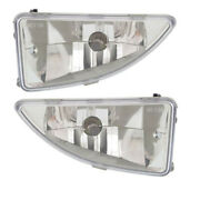00-04 Focus 2.0l And 2.3l Engine Front Driving Fog Light Lamp Assembly Set Pair