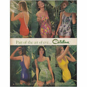 1961 Catalina Bathing Suits Part Of The Art Of Eve Vintage Print Ad