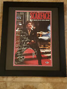 Al Pacino Scarface Cast Autograph Signed Auto Framed Movie Poster Photo Beckett