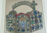 Antique Watercolor Painting By Ernst August Krahl 1858-1924 Roman Empire Crown