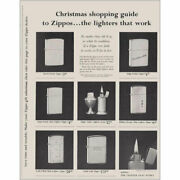 1961 Zippo Lighters Christmas Shopping Guide Vintage Print Ad