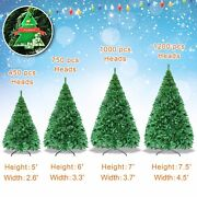 Undercoated Green 5/6/7/7.5ft Artificial Christmas Tree W Iron Stand Full Pine