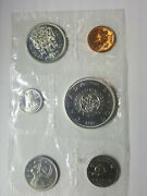 1964 Canada Mint Set- Proof Like- Uncirculated Coin Set- W/env. 80 Silver