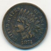 1874 Indian Head Cent-semi Key Date-sharp Details-very Nice Ships Free Inv8