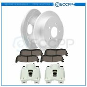 Rear Brake Rotors Calipers Ceramic Pads For Ford Expedition Ford F-150 2000-2002