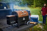 Wood Burning Smoker Camp Site Pellet Grill Flame Broiler Portable Cooking Bbq