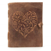 Leather Journal For Women - Beautiful Handmade Genuine Leather Bound Notebook -