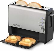 West Bend 77222 Quick Serve Wide Slot Toaster Bagel And Gluten-free Settings Wit