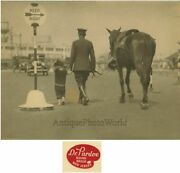 Policeman With Barefoot Boy And Horse Antique Art Photo By J. B. Pardoe