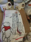 Disney Winnie The Pooh Coffee Mugs Oven Mitt And Kitchen Towel Set 5 Pc Total