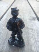 Handcrafted In Kentucky Coal Figurine Confederate Soldier