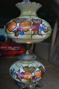 Antique Vintage Gwtw Hurricane Gone With The Wind Lamp Apple Fruit Lamp