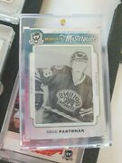 2014-15 Ud The Cup David Pastrnak 2x Rookie Printing Plates Ice Series 1of1