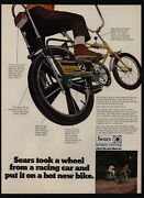 1969 Sears Screamer Boyand039s Bicycle - Banana Seat - Candy Apple Paint Vintage Ad