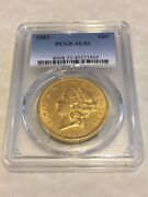 1853 Au53 Pcgs Liberty Double Eagle 20 Gold Coin Pq Lustrous Great Appeal