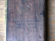 Antique Carpenters Try Square Very Rare Hard And Robertson Roewood And Brass