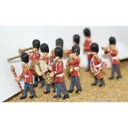Painted Guards Band 10 Figures Oo Scale 1/76th Langley F109p