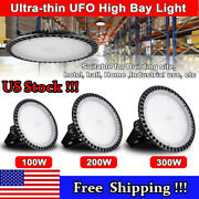 300w 200w 100w Ufo Led High Bay Lights Warehouse Lamp Outdoor Fixture Lighting