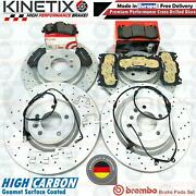 For Range Rover 4.4 Sdv8 Front And Rear Drilled Brake Discs Brembo Pads Sensors