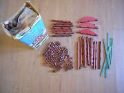 Vintage 7 + Pounds Lincoln Logs All Wood Building Toy Toys Incomplete Setandnbsp