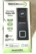 Heath Zenith Secur360 Wired Hd 1080p Video Doorbell Connected Security Sl-9600-0